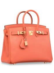 A FLAMINGO EPSOM LEATHER BIRKI