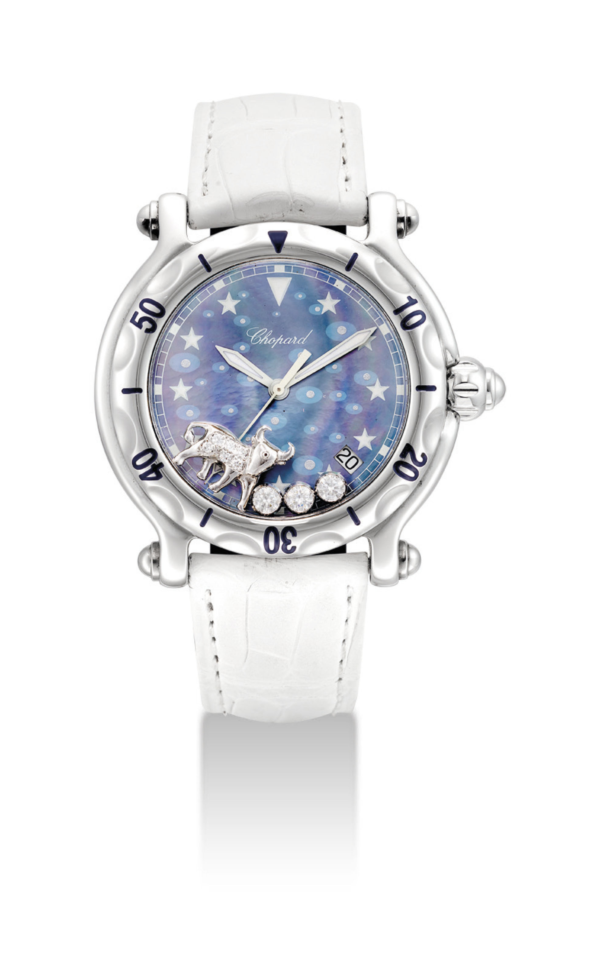 CHOPARD. A LADY'S STAINLESS ST