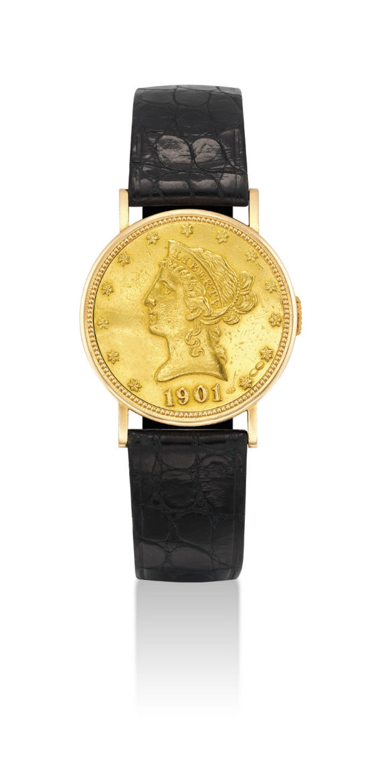 PIAGET. AN 18K GOLD TEN DOLLAR