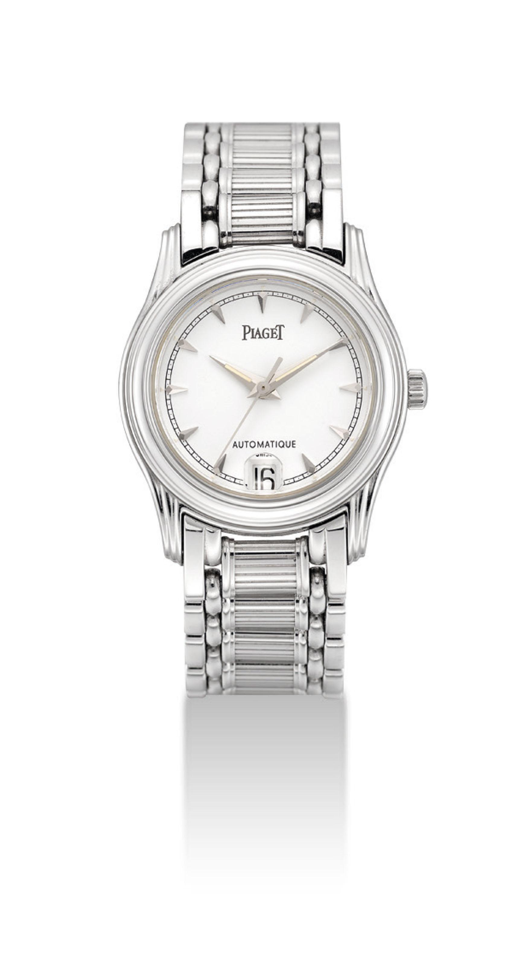 PIAGET. A LADY'S 18K WHITE GOL