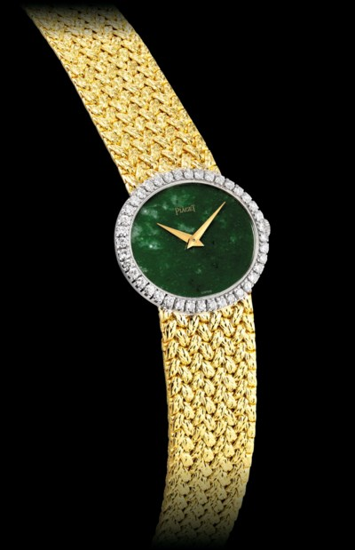 PIAGET. A LADY'S 18K GOLD AND