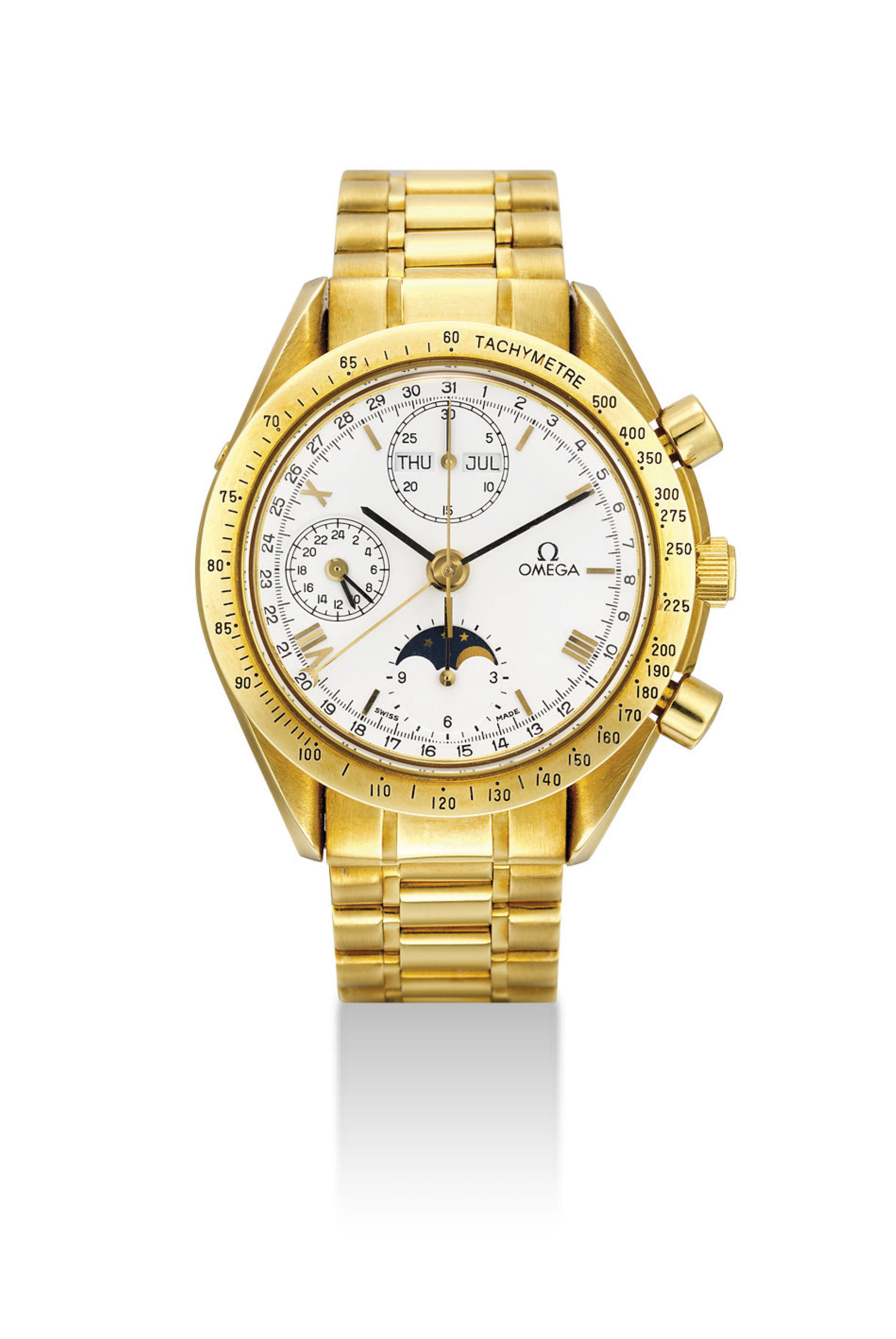 OMEGA. AN 18K GOLD AUTOMATIC T