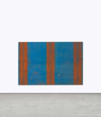 Untitled (Canopy Painting: Blue and Orange)