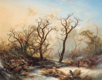 A winter landscape with ghostly trees