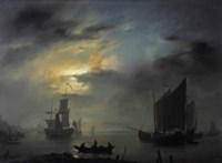 Marine scene at night