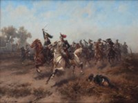 The French cavalry charge