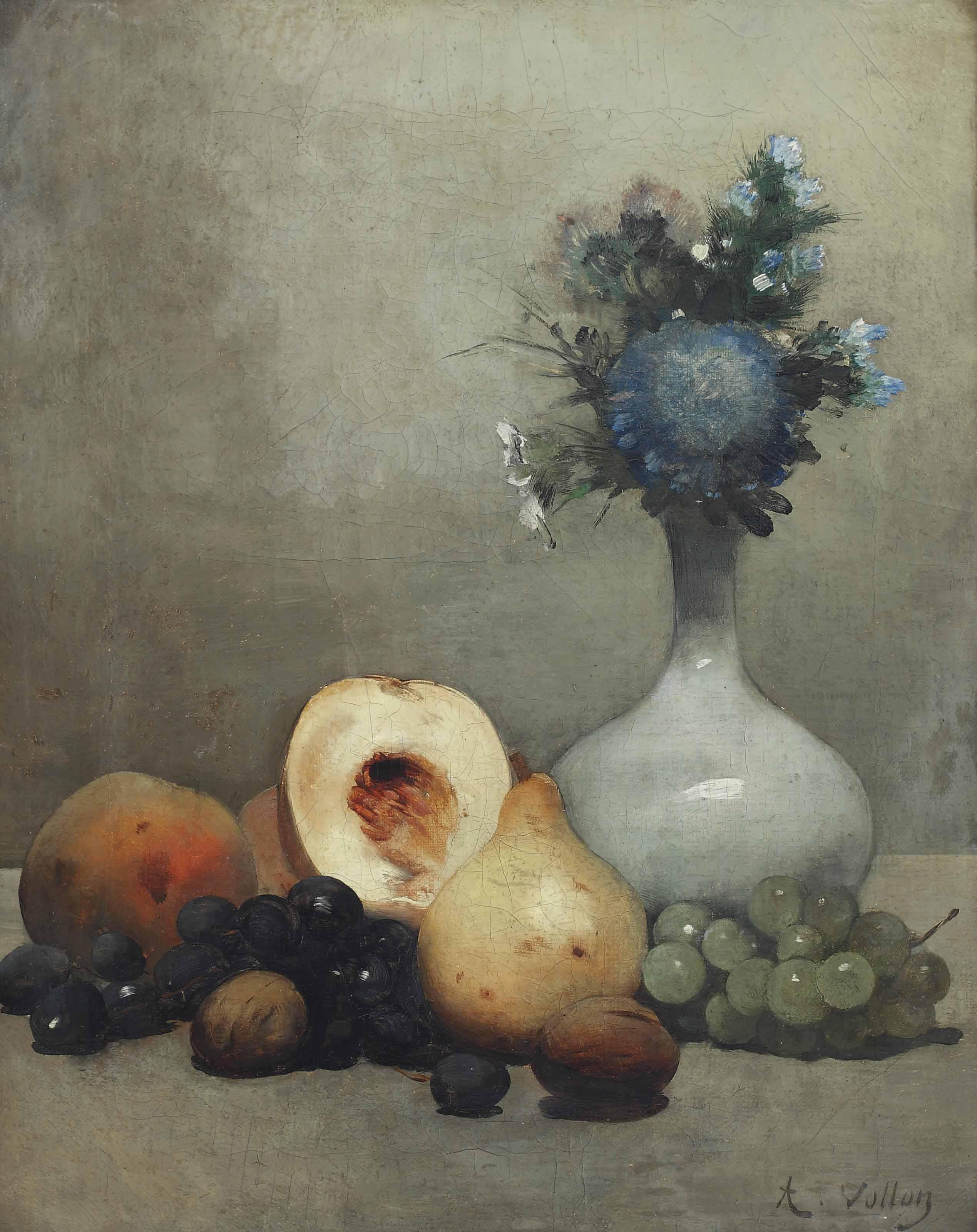 Nature morte, fruits et fleurs