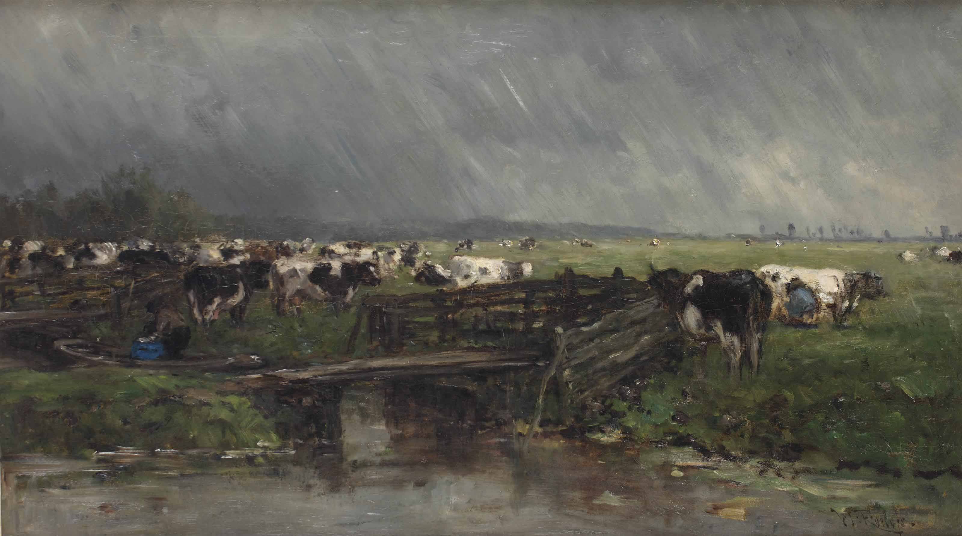Stortbui: the approaching storm near Gouda
