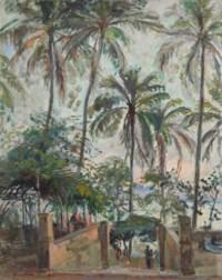 Palm trees near the waterside, Brasil