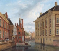 A view of the Mauritshuis and the Torentje with the Hofvijver beyond, The Hague