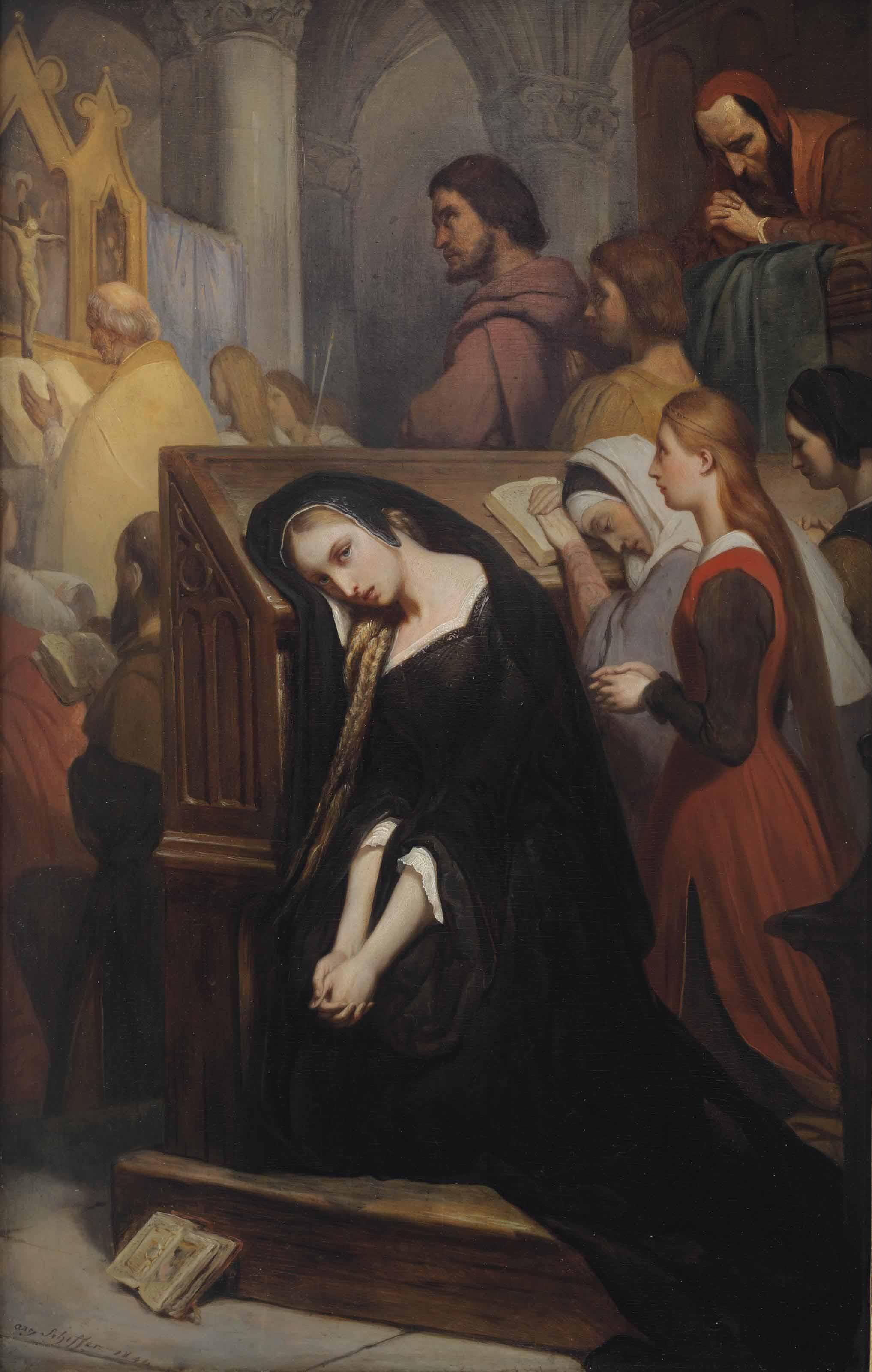 Marguerite in the church