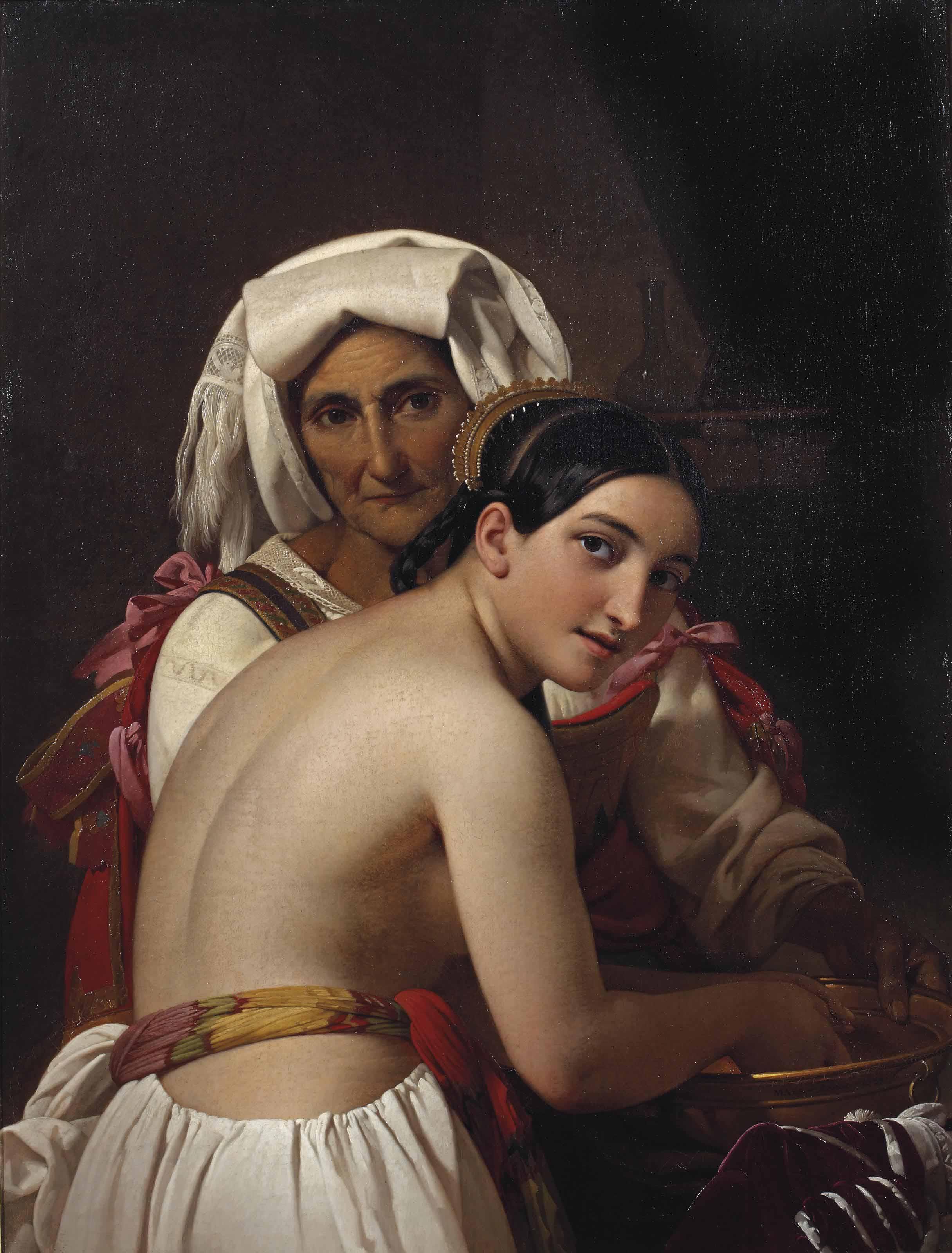 An Italian beauty bathing