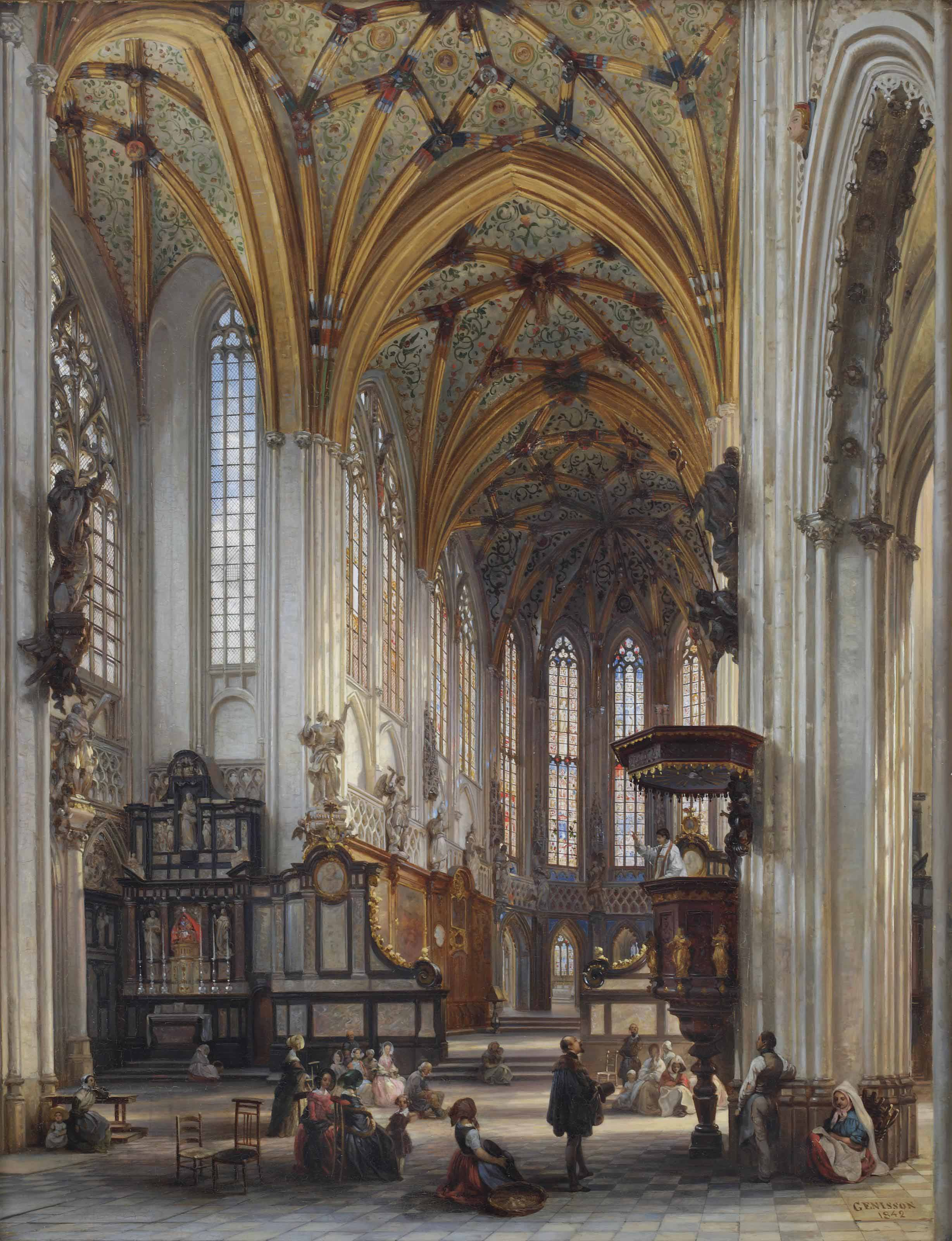 Interior of the Saint-Jacques-le-Mineur Church, Liège