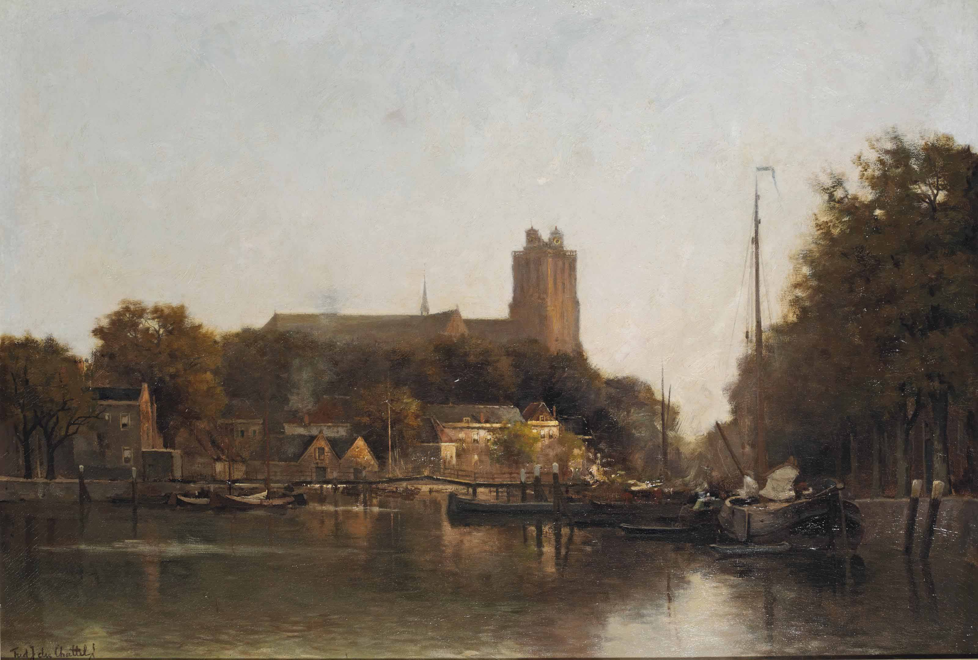 The Nieuwe Haven with the Grote Kerk, Dordrecht
