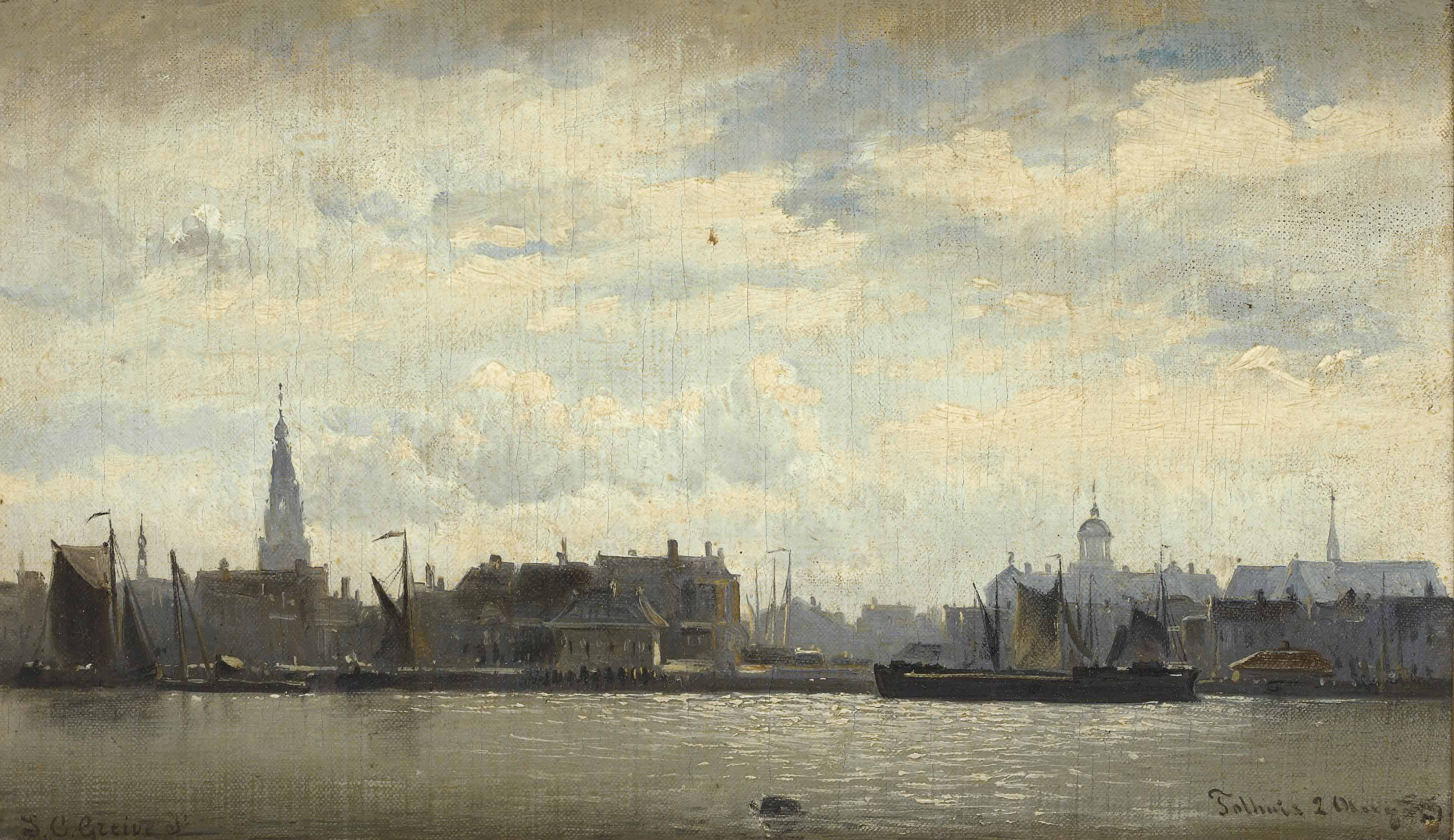 A view of Amsterdam with the river IJ seen from the Tolhuis