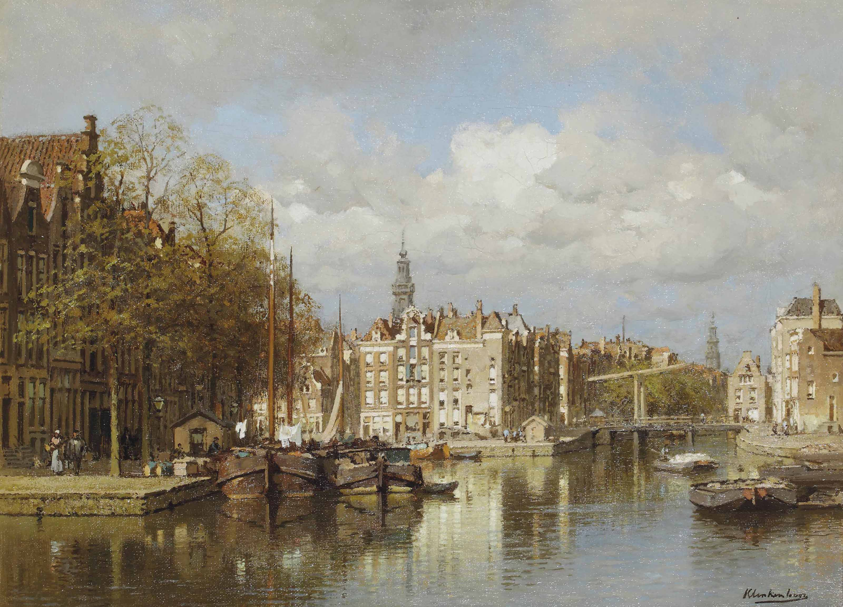 A view of Amsterdam with the Zuiderkerk beyond