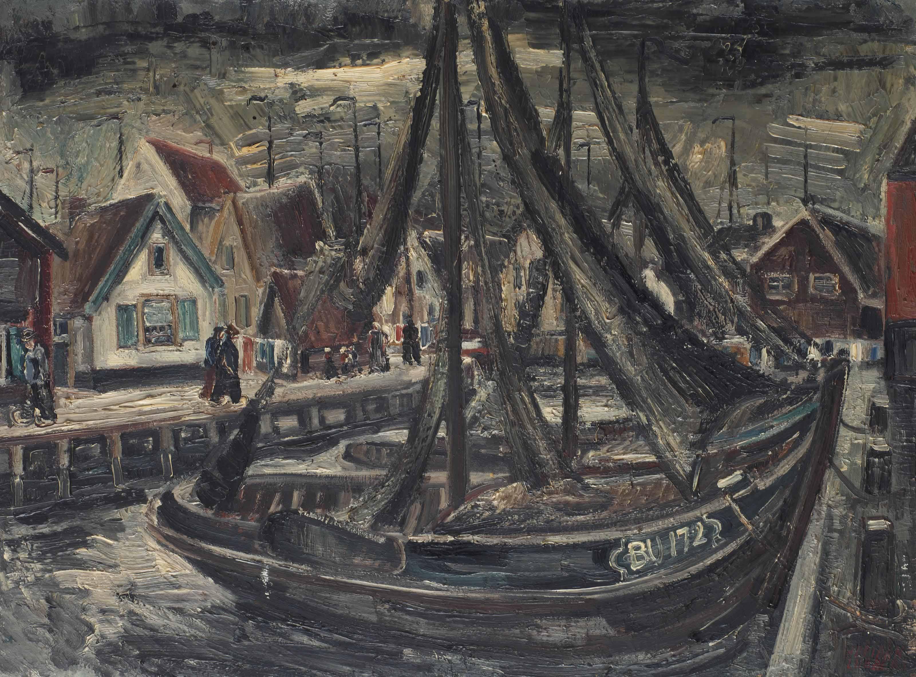 The harbour of Bunschoten