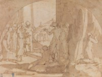 Judith preparing to visit Holofernes in his tent