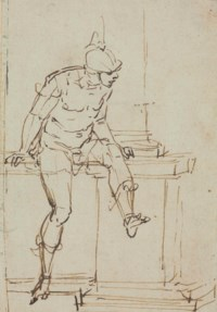 A seated warrior