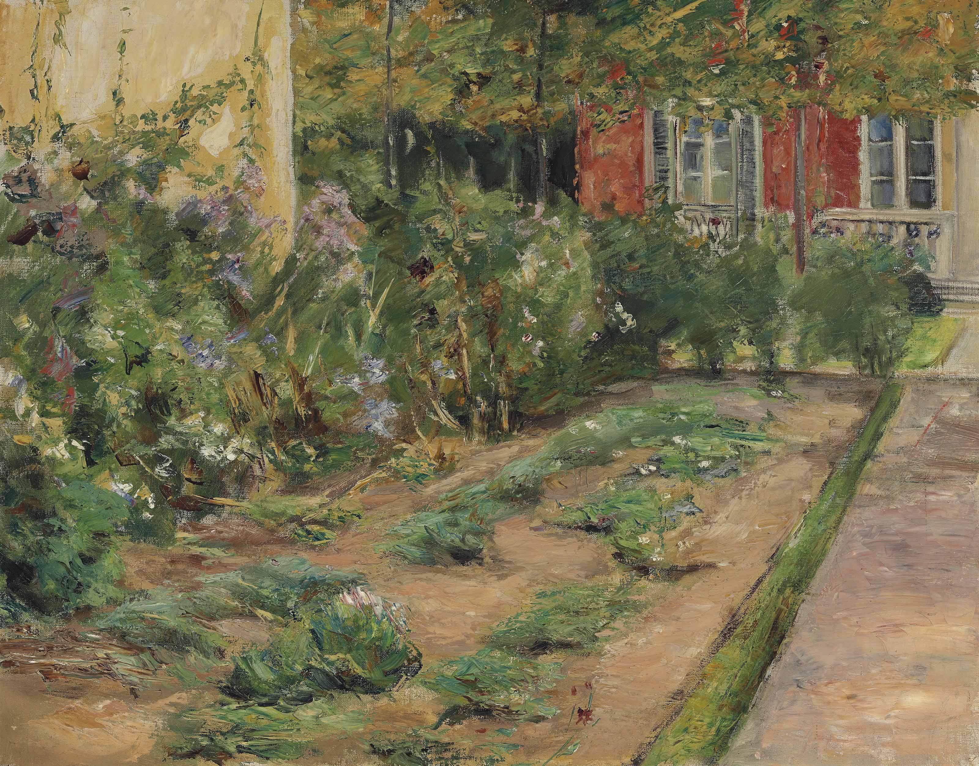 Blumenstanden am Gärtnerhäuschen nach Nordosten