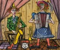 Les clowns musiciens, le saxophoniste