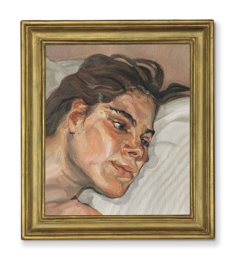 Lucian Freud (1922-2011), Head of Esther, 1982-83. Oil on canvas. 14¼ x 12¼ in (36 x 31 cm). Sold for £4,786,500 on 11 February 2016 at Christie's in London. Artwork © The Lucian Freud Archive  Bridgeman Images