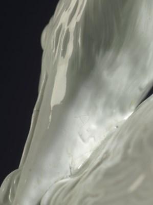 A MEISSEN WHITE MODEL OF A GRE