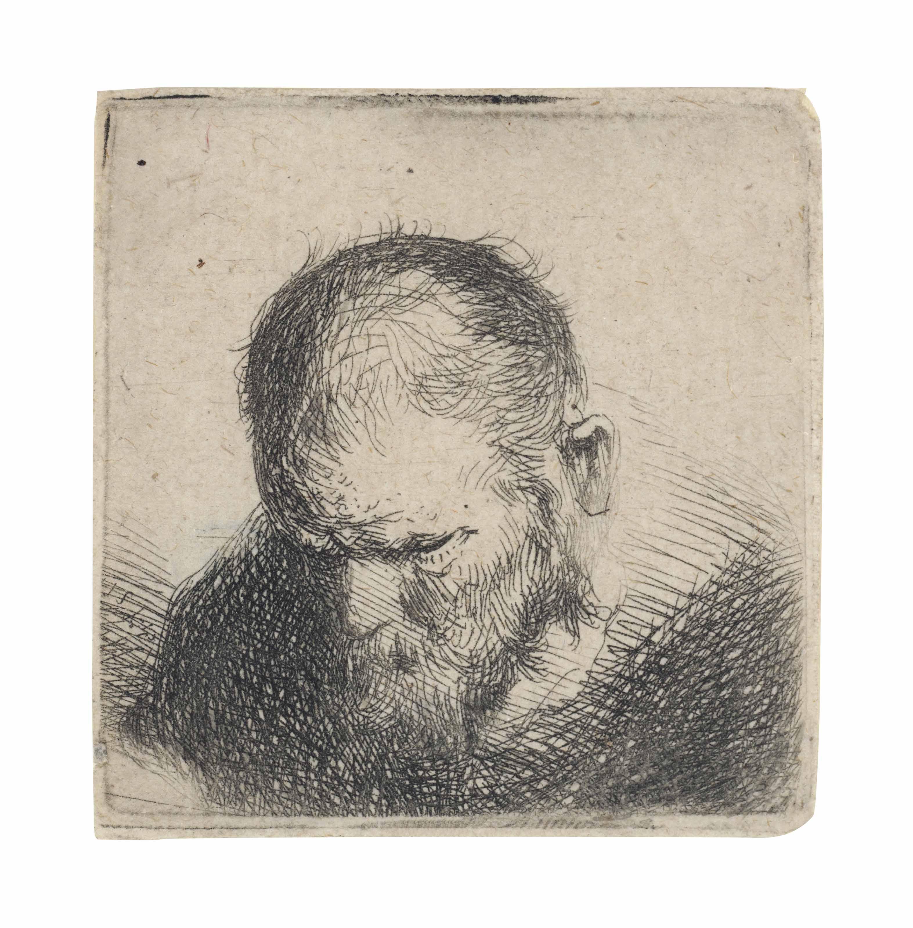 Workshop Of Rembrandt Harmensz Van Rijn Old Bearded Man Looking Down Prints Multiples Old Master Christie S