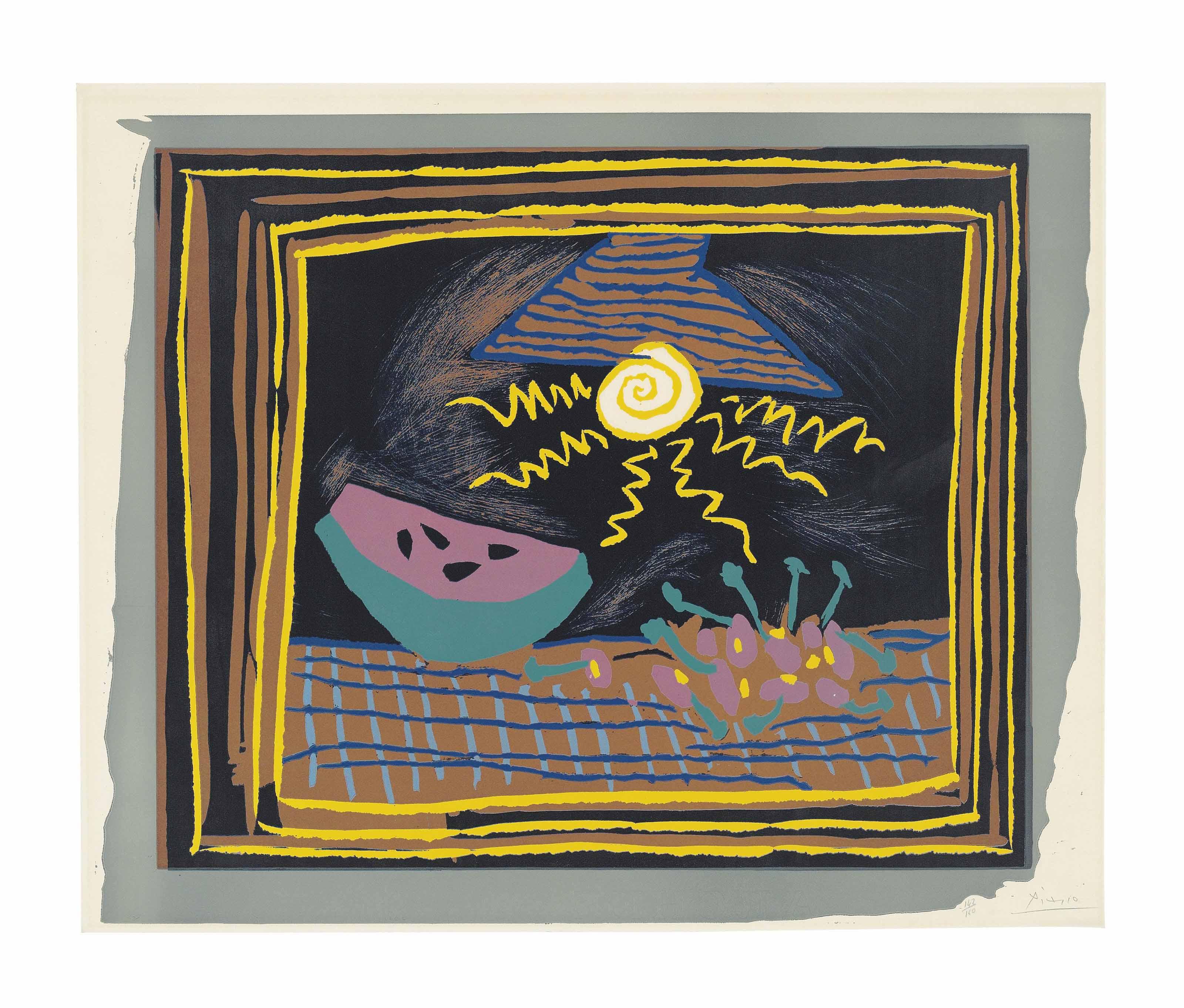 Pablo Picasso (1881-1973) , Nature morte à la pastèque ...