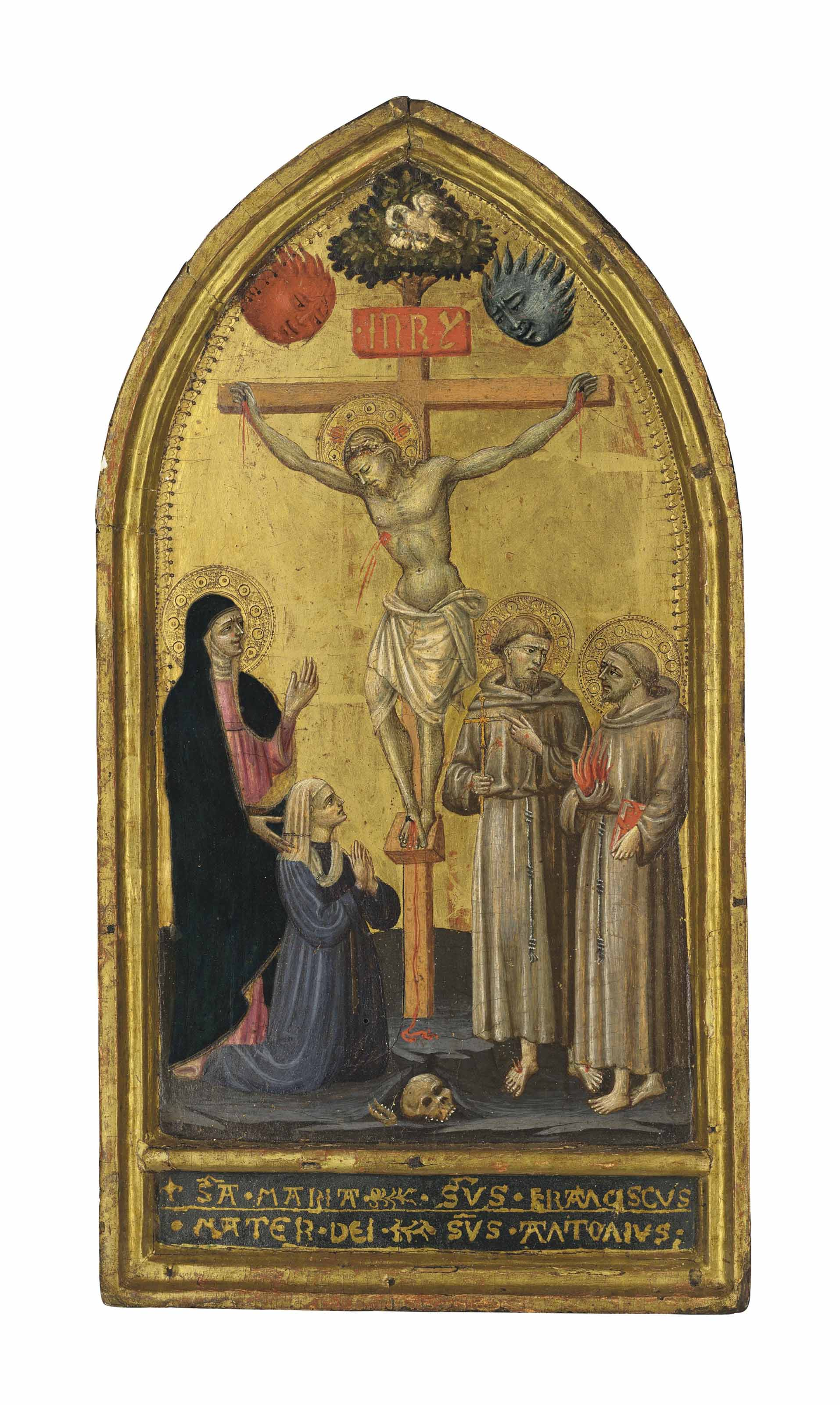 The Crucifixion with Saints Francis and Anthony, the Madonna and a donor