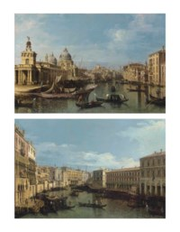 Venice: The Entrance to the Grand Canal; and The Grand Canal from the Ca' da Mosto to the Fabbriche Nuove, with the Rialto Bridge