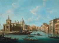 The Grand Canal, Venice, with the Punta della Dogana and Santa Maria della Salute