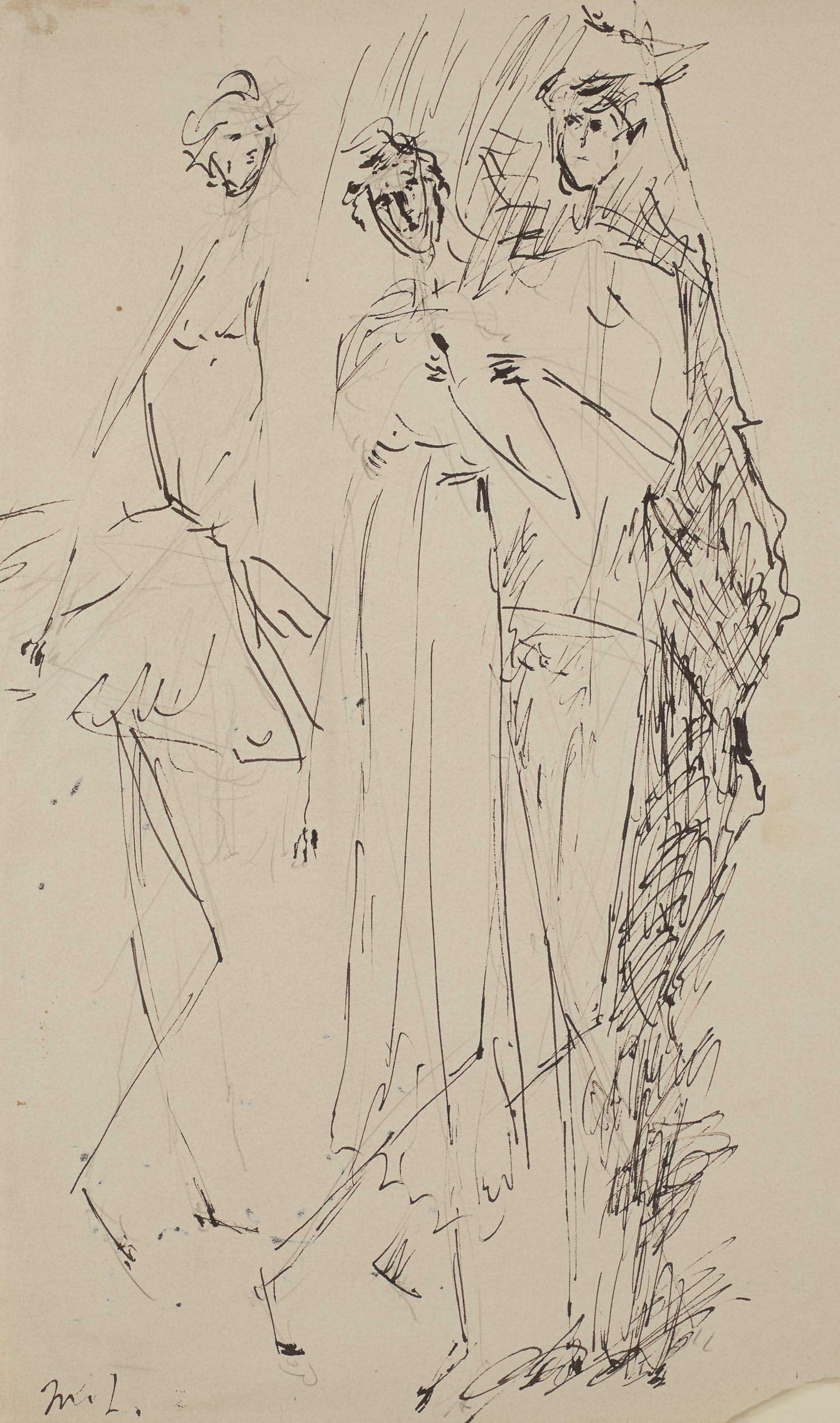 Study for three figures