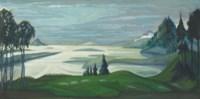 Stage design for 'Sadko': The river Volkhova in flood