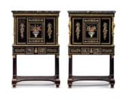 A PAIR OF CHARLES X ORMOLU-MOU