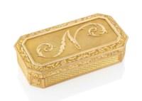 A NAPOLEONIC GOLD PRESENTATION SNUFF-BOX