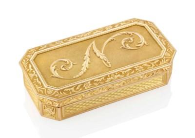 A NAPOLEONIC GOLD PRESENTATION
