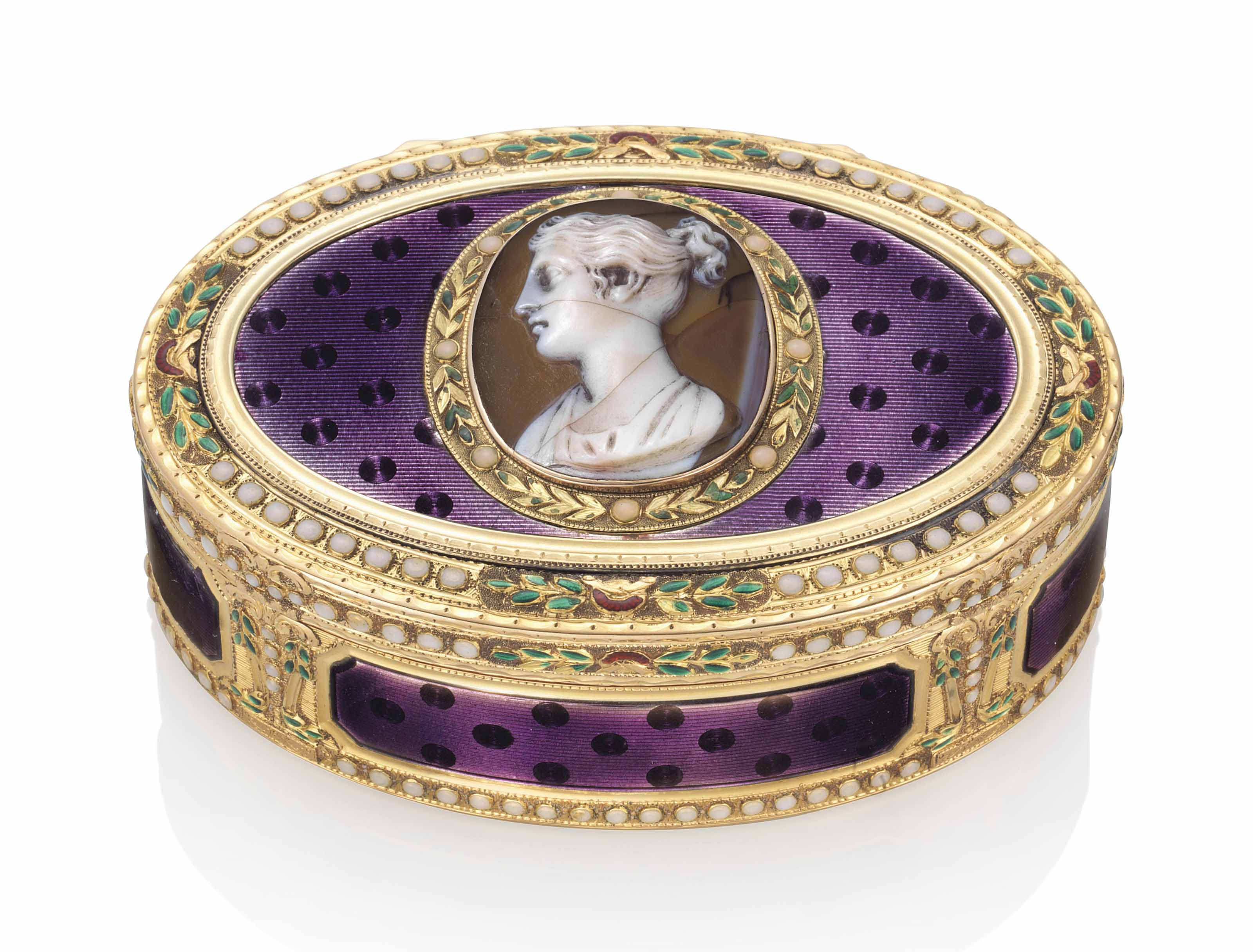 a german enamelled gold snuff box set with a hardstone cameo hanau circa 1780 1790 with. Black Bedroom Furniture Sets. Home Design Ideas