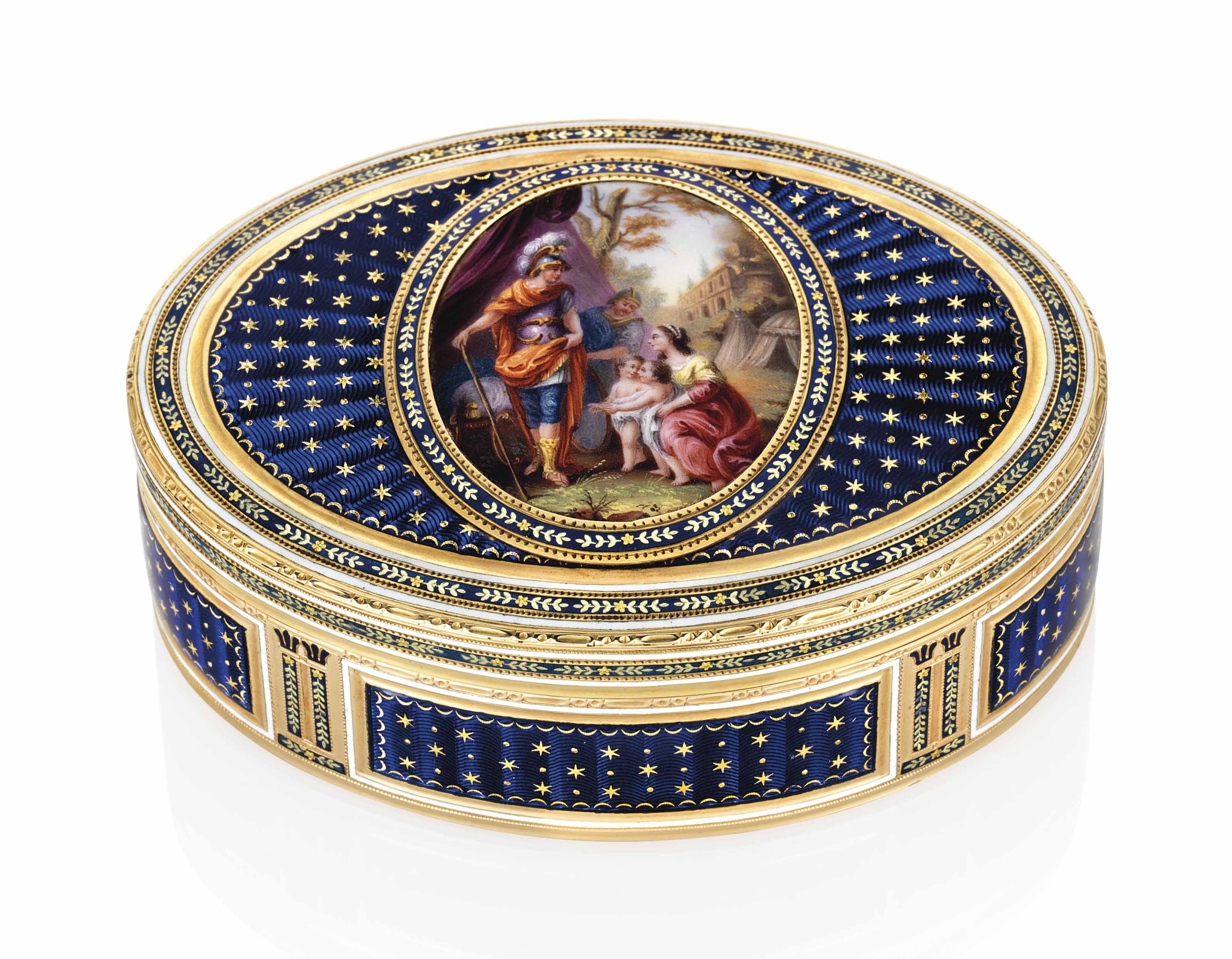a german enamelled gold snuff box maker 39 s mark a i crowned hanau circa 1780 christie 39 s. Black Bedroom Furniture Sets. Home Design Ideas