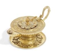 A GEORGE III SILVER-GILT SMOKER'S COMPANION