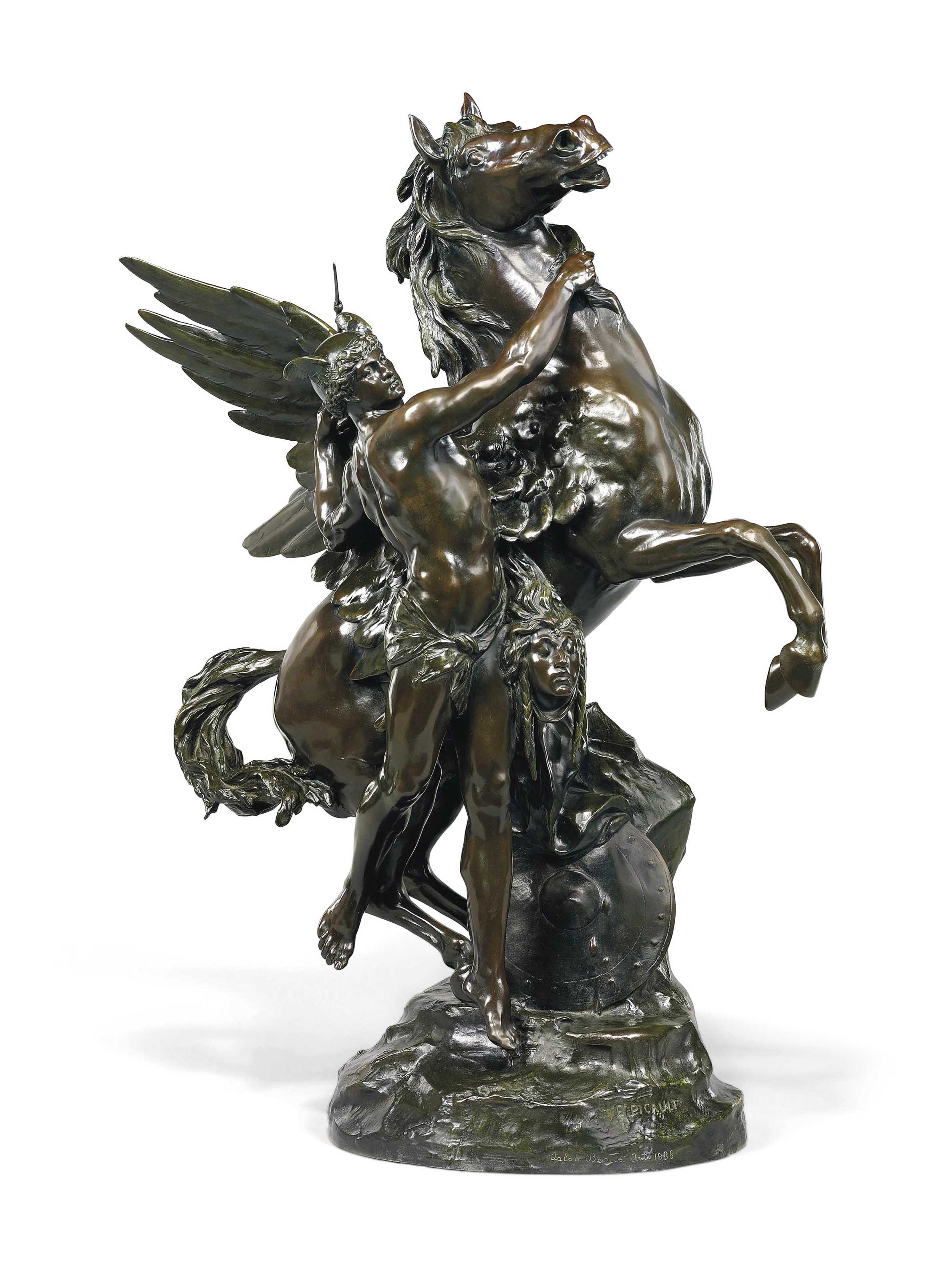 Persée et Pégase avec la tete de Meduse (Perseus and Pegasus with the head of Medusa) or La naissance de Pégase (The birth of Pegasus)