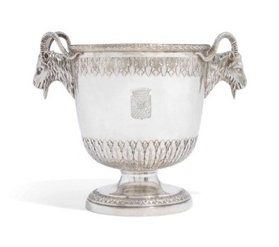 19th Century German Solid Silver Wine Coolers, Georg Roth ... |German Wine Refrigerator