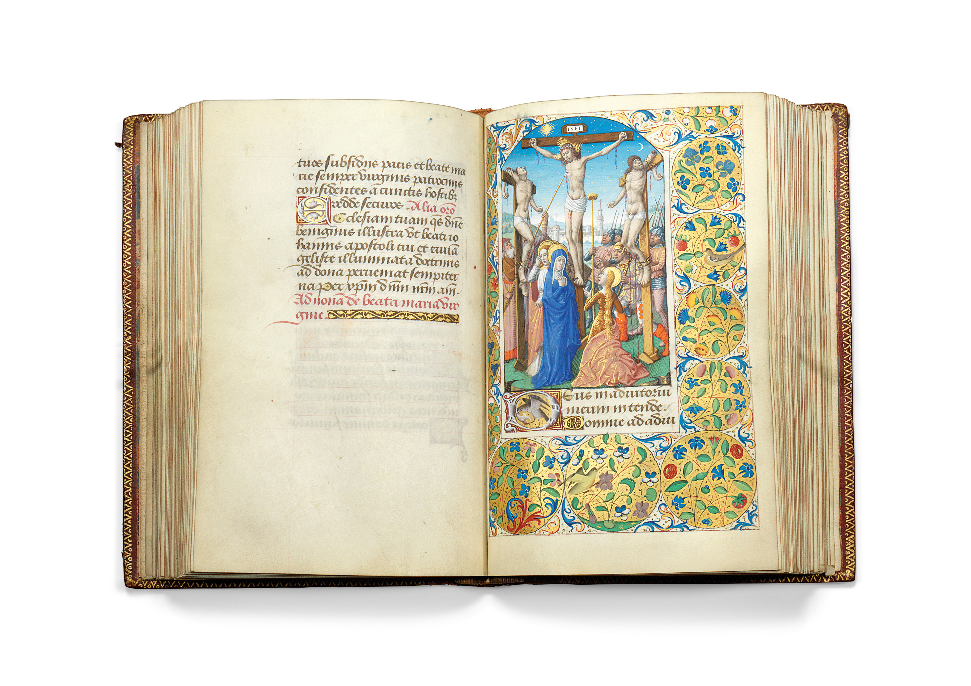 BOOK OF HOURS, use of Paris, in Latin and French, illuminated manuscript on vellum [Paris, c.1490 and third decade of the 16th century]