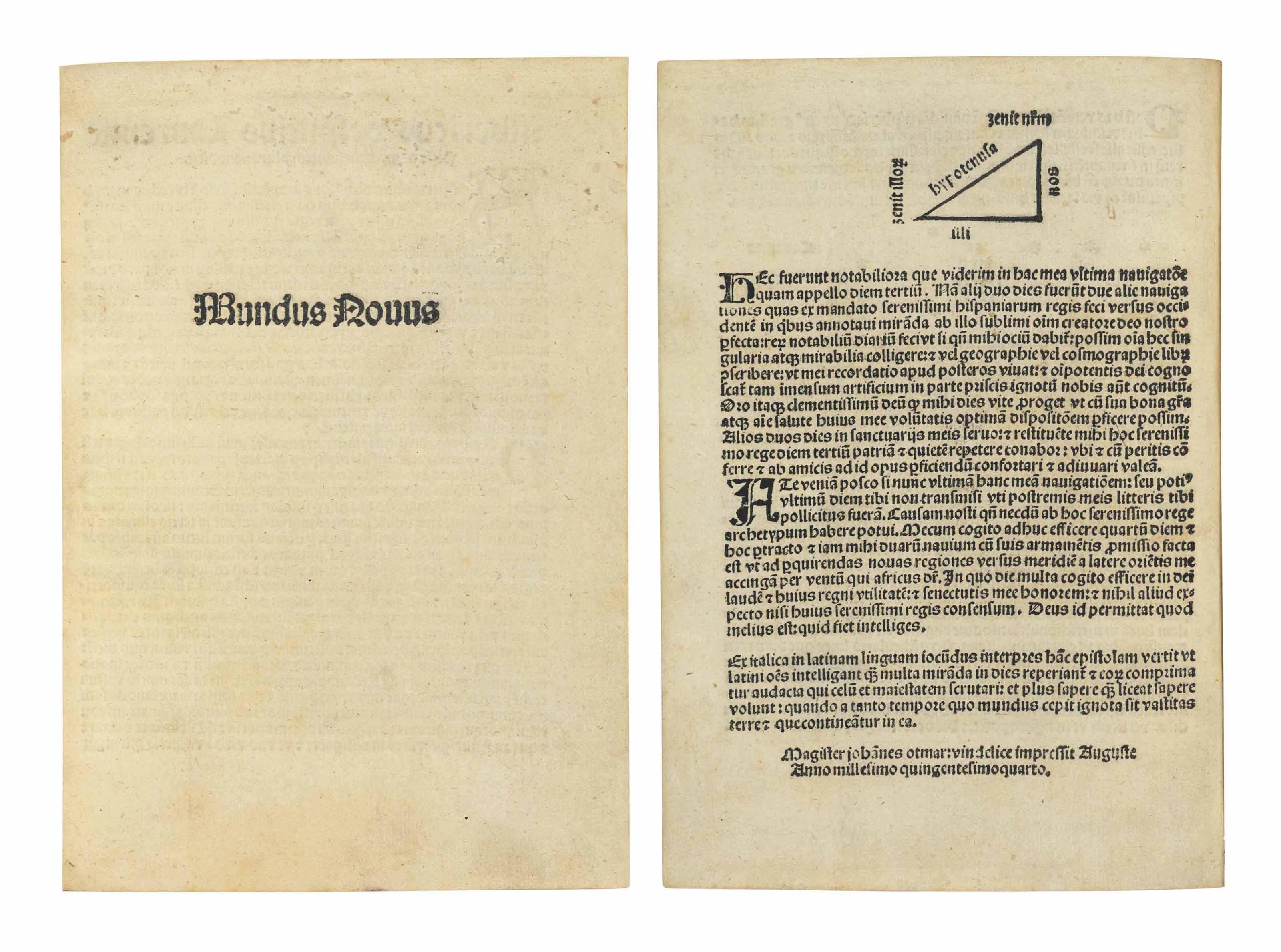 VESPUCCI, Amerigo (1454-1512).