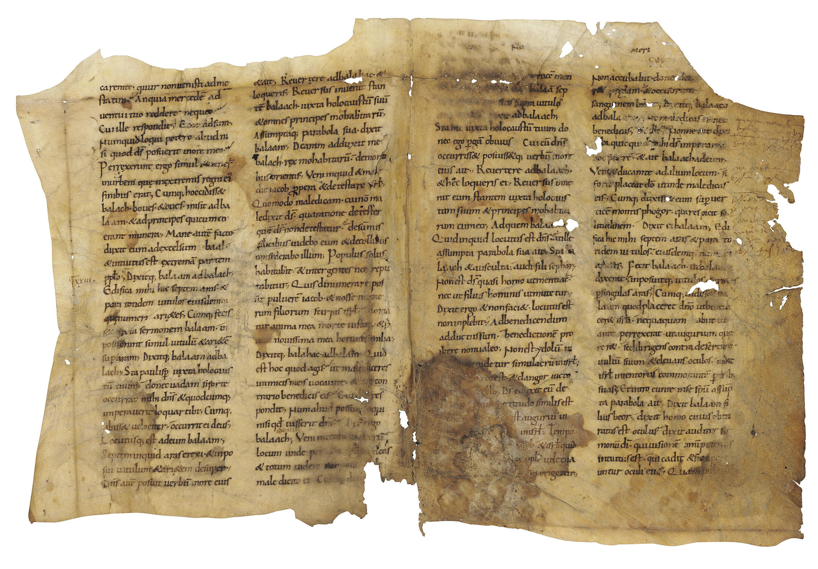 A BIFOLIUM FROM A BIBLE, in La