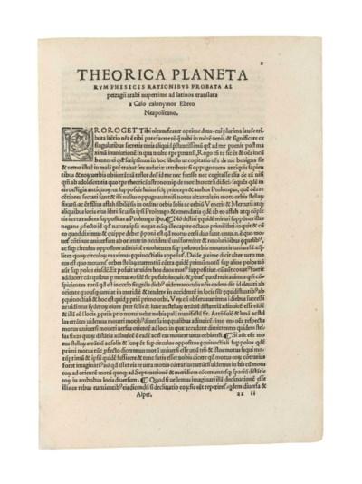ALPETRAGIUS (d. c.1204). Plane