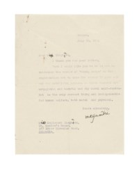 GANDHI, Mohandas Karamchand (1869-1948). Typed letter signed ('M K Gandhi') to Miss [Meliscent] Shephard, Borsad, 30 July 1931, with autograph emendations.
