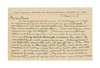 TOLKIEN, J. R. R. (1892-1973). Autograph postcard signed ('J R R T') to [Alan] Rook, [20 Northmoor Road, Oxford], 21 April 1943.
