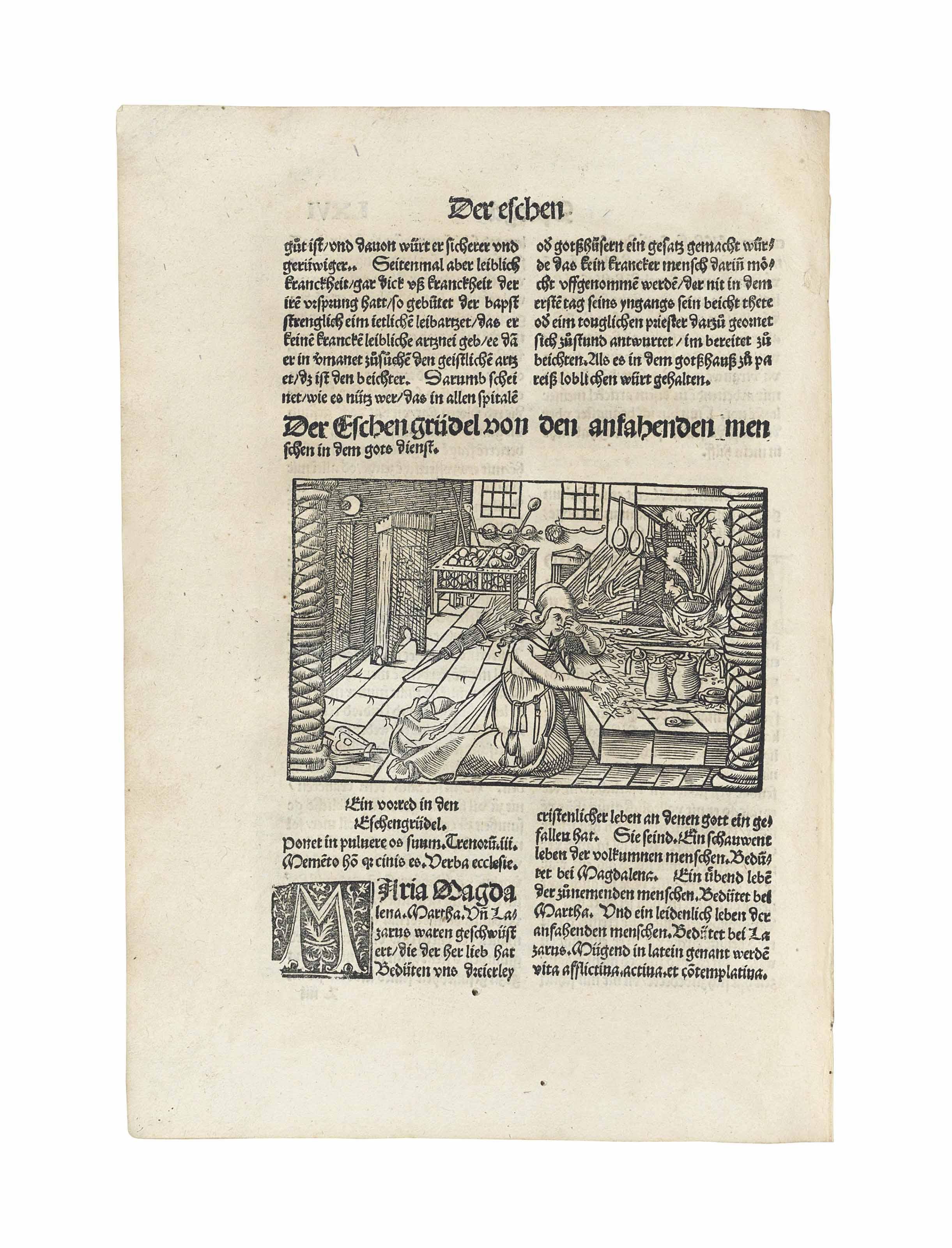 GEILER VON KAISERSBERG, Johann (1445-1510) Das Irrig Schafe ...