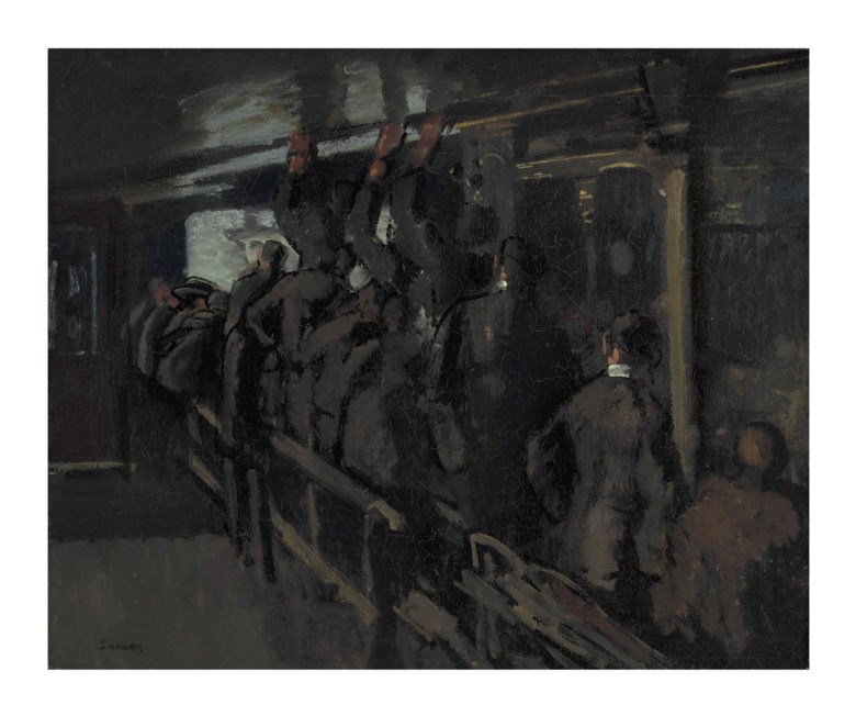 Walter Richard Sickert, A.R.A. (1860-1942), The Gallery at the Old Mogul, 1906. Oil on canvas. 25 x 30 in (63.5 x 67 cm). Sold for £140,500 on 20 June 2016 at Christies in London